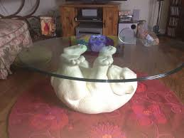 Funny Coffee Tables - kijiji polar bear coffee table with glass top animals