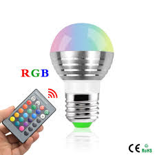 Led Night Light Bulb by 9 99 Smart Rgb Light Bulb With Remote Tinkersphere