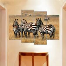 african animals painting leopard lion elephant zebra print on