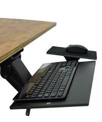 Under Desk Computer Holder by Under The Desk Shelf Mouse Pad Attachable Table Computer Phone