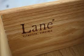 lane furniture 1960s branding fonts in use
