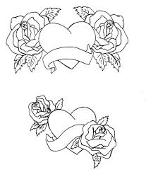 roses and hearts coloring pages heart black ops sheets call of