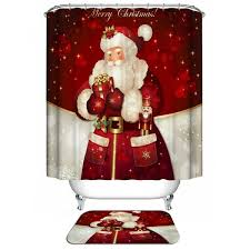 Fashion Shower Curtain Santa Christmas Shower Curtain Cheap Shop Fashion Style With Free
