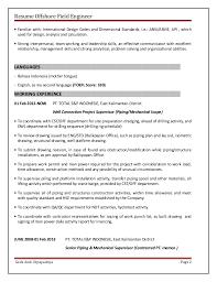 Field Service Engineer Resume Sample by Resume Offshore Field Engineer