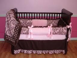 Pink And Brown Damask Crib Bedding Damask Crib Bedding For Home Inspirations Design Damask