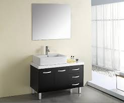 3 simple bathroom mirror ideas midcityeast minimalist black and white bathroom with small vanity and frameless mirror over it