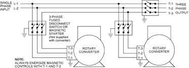 phase a matic rotary converter installation instructions