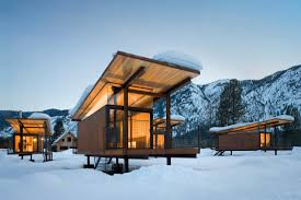 rolling huts olson kundig architects snow and cabin
