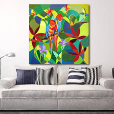 Home Decor Wall Paintings Hdartisan Home Decor Wall Painting Two Parrots Talk Abstract Oil