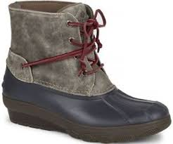 womens sperry duck boots size 11 sperry top sider s saltwater wedge tide grey duck boots