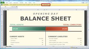 How To Set Up Spreadsheet In Excel How To Create Excel 2010 Balance Sheet Howtech