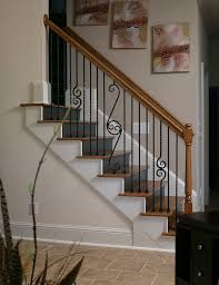Stair Railings And Banisters 2017 Wood Stairs Installation Cost Repair Wood Stairs