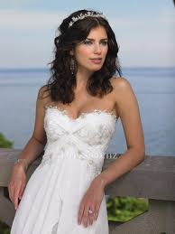 strapless sweetheart beaded chiffon beach wedding dress idress