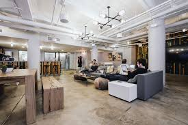 Collaborative Work Space Lounge At The Dugout Wework Fort Point Brand 3 Pinterest