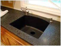 black countertop with black sink kitchen sinks drop in black granite sink double bowl u shaped