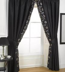 black living room curtains majestic green design and silver red