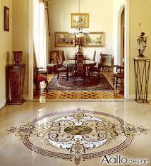 luxury marble floor medallion aalto design