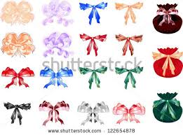 bags of bows set bows bags gifts stock vector 122654878