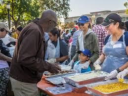 pasadena convention center and centerplate give thanks this