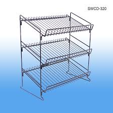 Metal Wire Shelving by Metal Wire Display Countertop 3 Shelf Display Rack Retail Product
