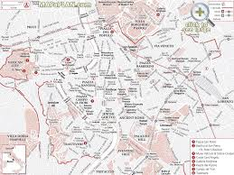 Map Of Rome Italy by Rome Maps Top Tourist Attractions Free Printable City Street Map