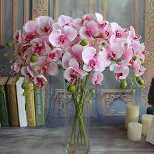 beautiful flower arrangements beautiful 78cm length artificial silk phalaenopsis butterfly