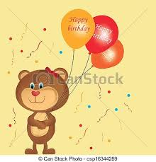 teddy balloons teddy with balloons a happy teddy with some vector
