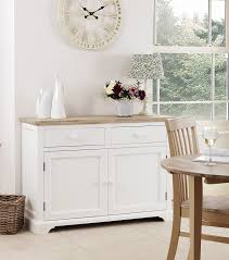 White Ready Assembled Bedroom Furniture Florence Sideboard Large White Kitchen Cupboard With 2 Drawers