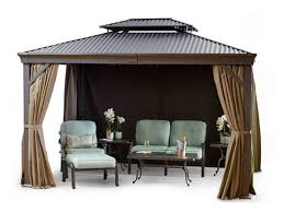 Fortunoff Backyard Stores by Maestrale Aluminum 10 U0027x12 U0027 Gazebo Fortunoff Backyard Store