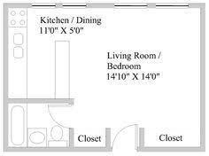 Efficiency Apartment Floor Plans Apartments Efficiency Floor Plan Floorplans Pinterest Studio