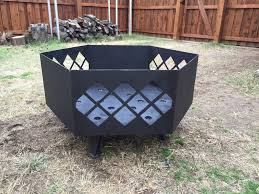 instructions on building a large custom steel fire pit