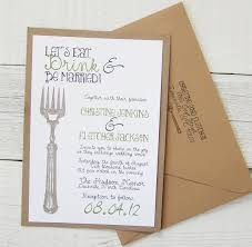 eat drink and be married invitations let s eat drink be married wedding invitation vintage rustic