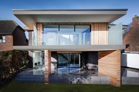 modern home with upside down layout 4 views in hampshire england balcony terrace glass balustrading modern home in hampshire england