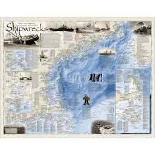shipwrecks of the northeast map national geographic store