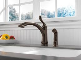 100 venetian bronze kitchen faucet delta linden single