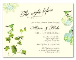 wedding rehearsal invitations dinner rehearsal invitations on recycled paper nature s by