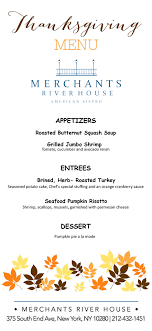 thanksgiving menu at merchants river house spend your