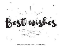 best wishes greeting card calligraphy stock vector 365446475