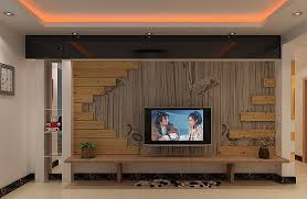3d Interior Design Living Room Pastoral Style Living Room Wooden Tv Wall 3d House Free 3d