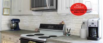 Self Adhesive Wall Tiles Peel And Stick Tile Backsplash Tiles - Adhesive kitchen backsplash