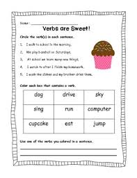here is a fun verb practice sheet it can be used for extra review