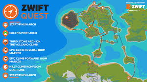 map of pairs zwiftquest saturday pairs and teams of four zwift quest