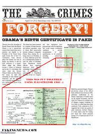 fake birth certificate the crimes newspaper obama fake birth certificate pictures