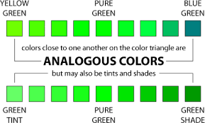 types of green color tc3060 using color