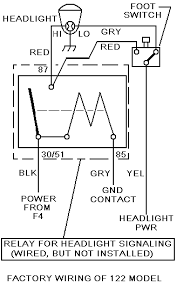 122s headlight flasher upgrade restoration