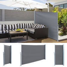 Wall Awning Sunnydaze Corner Patio Retractable Privacy Wall Side Awning 10 X