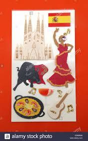 spanish stickers of la sagrada familia flag flamenco dancer