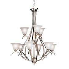 Kichler Lighting Chandelier by 9 Light Chandelier In Tannery Bronze Dover Collection