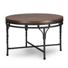 coffee table and end table sets 2 baxton studio austin vintage industrial antique bronze round