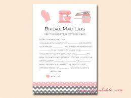 bridal mad libs kitchen theme bridal shower pack magical printable